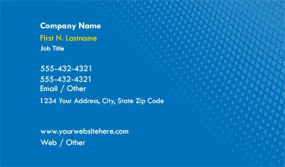Bright Blue Gradient Business Card Template